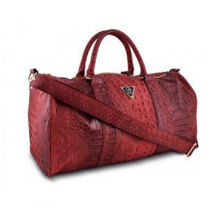 Mint Crocodile Duffle Bag