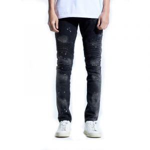 Embellish Quaker Biker Denim