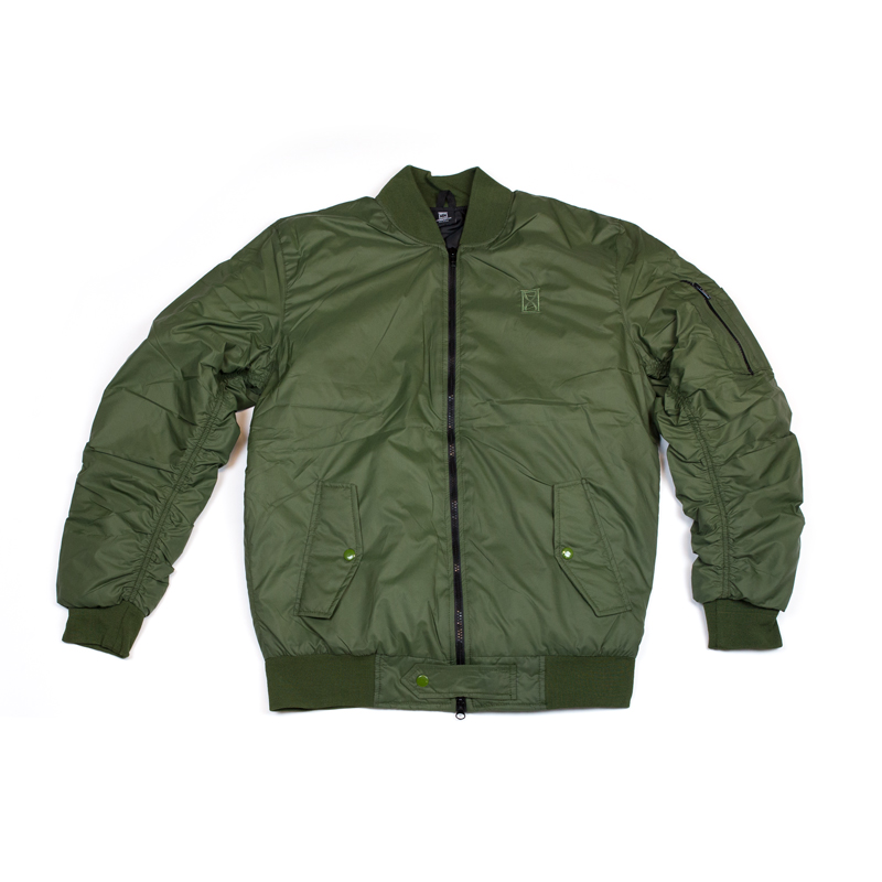 hidden hype bomber jacket olive