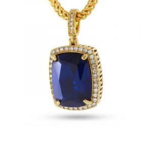 King Ice Saphire Jewel Necklace