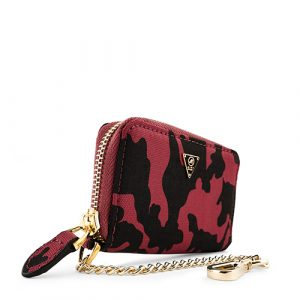 Nylon Camo Coin Wallet Red