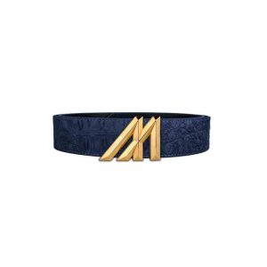 Mint Croc Belt Navy