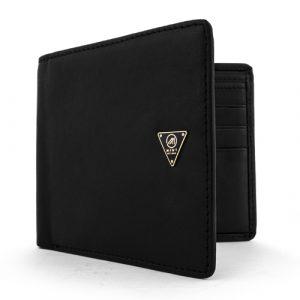 Mint Lambskin Bifold Wallet Black
