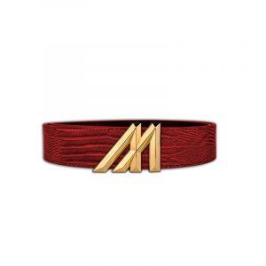 Mint Lizard Belt