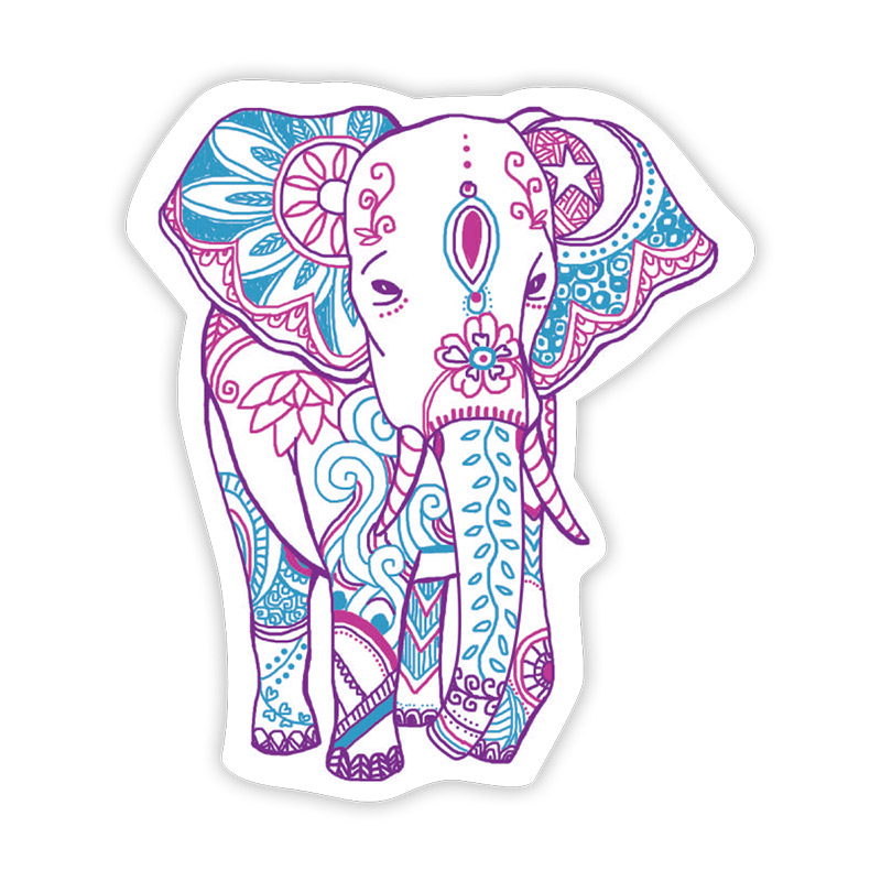 Buy Stickie Bandits Boho Elephant Sticker Online