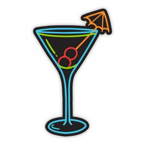 Stickie Bandits Martini Neon Sticker Neon