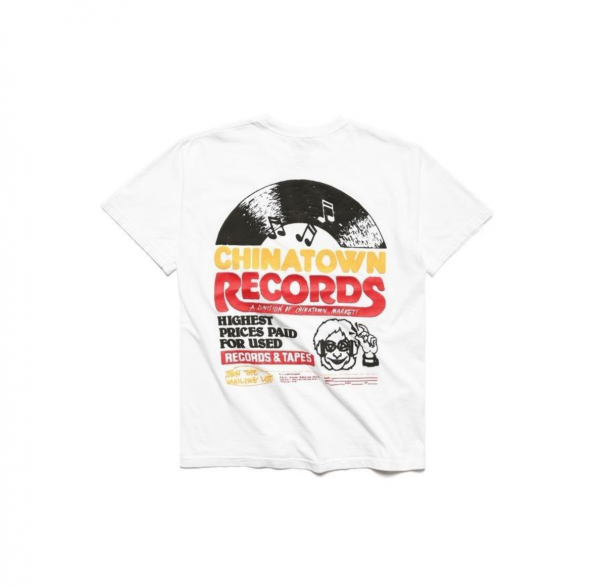 chinatown market records tee white