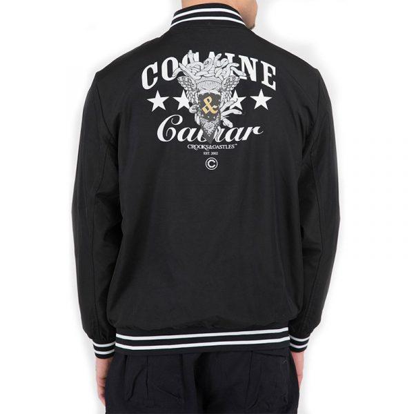 crooks and castles stadium bomber jacket
