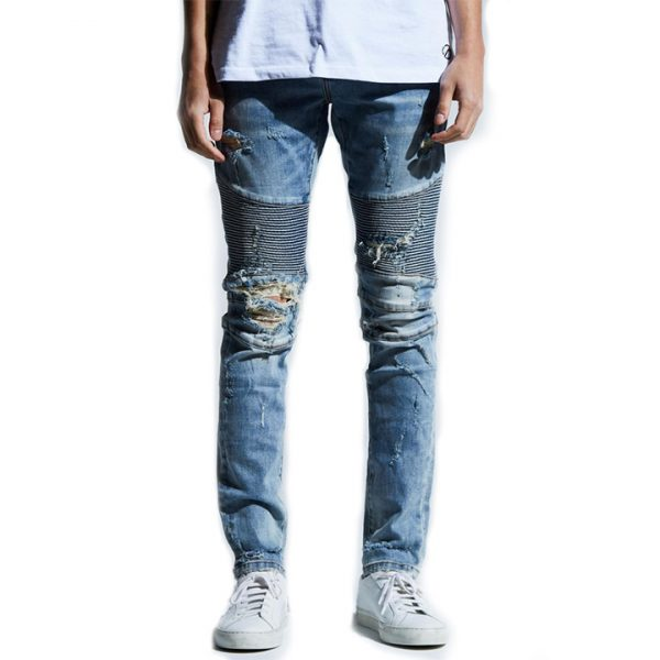 embellish fitzgerald biker denim