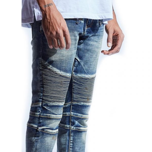 Embellish Fizale Biker Denim Close Up