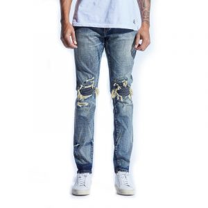 Embellish Fizale Rip and Repair Denim