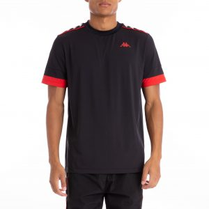 kappa banda bruxer tee black red