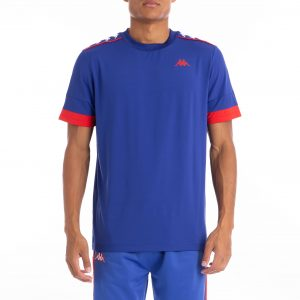 kappa banda bruxer tee royal and red