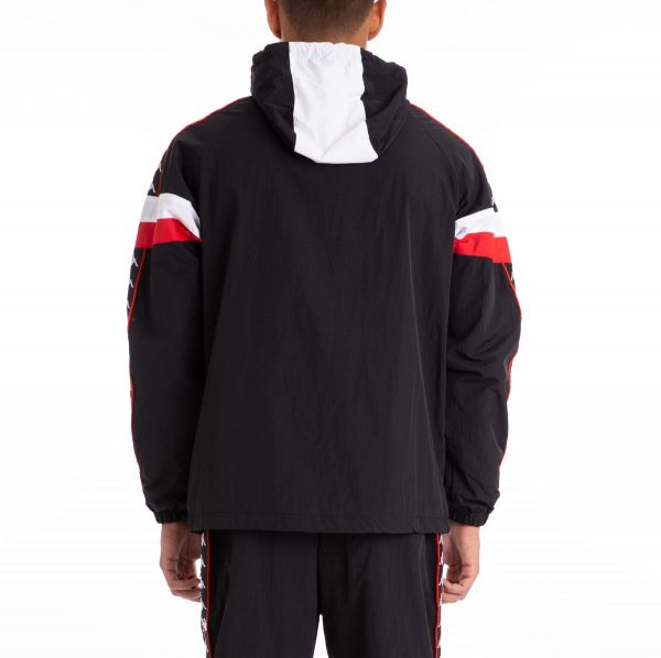 kappa banda bellagio hoodie black red back