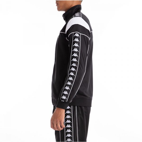 kappa merez track jacket slim black