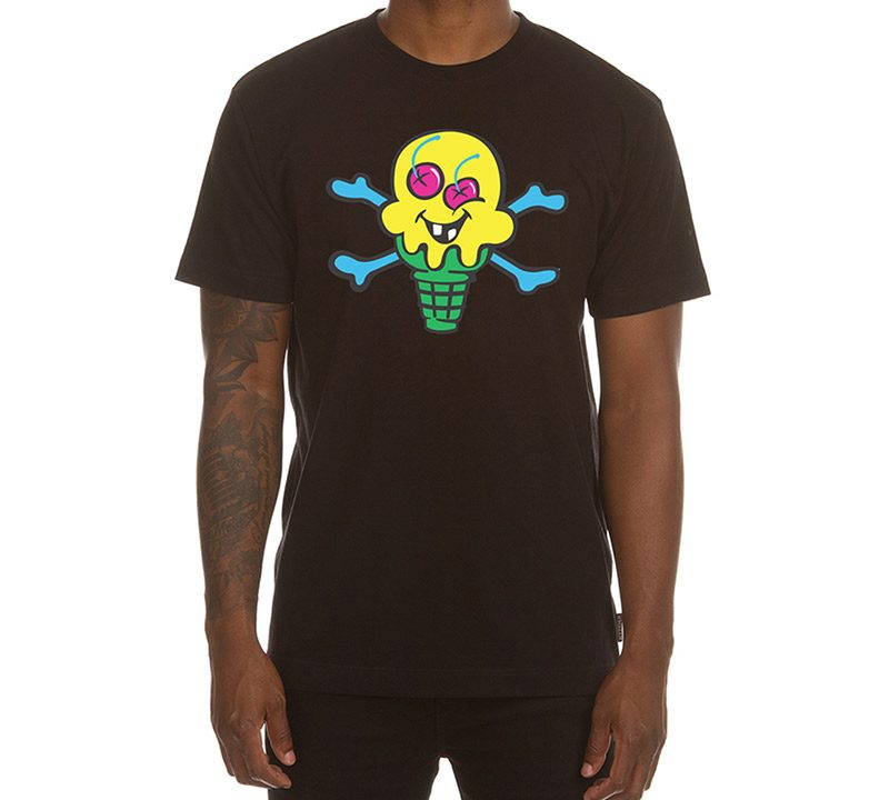Ice Cream Cones and bones tee black