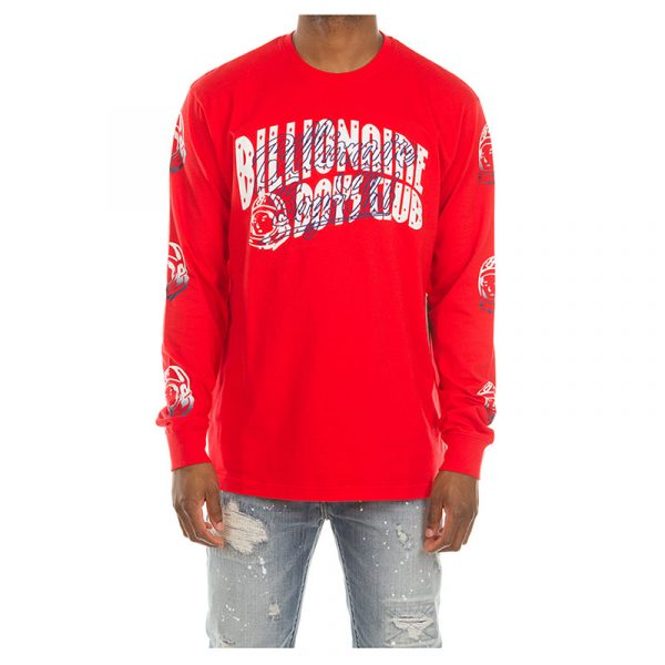Billionaire Boys Club Arch Script Long Sleeve Red