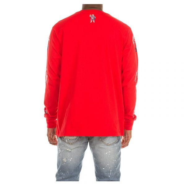 Billionaire Boys Club Arch Script Long Sleeve Red Back