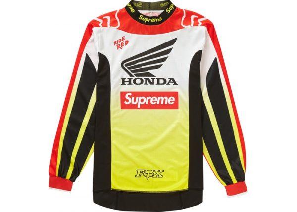 Supreme Honda fox racing jersey red