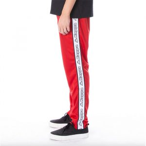 Kappa Banda Aplec Pants Red Black White Side