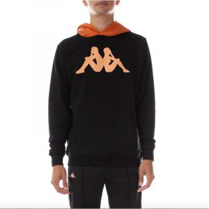 "Kappa ""Dave"" Hoodie Black/Orange"
