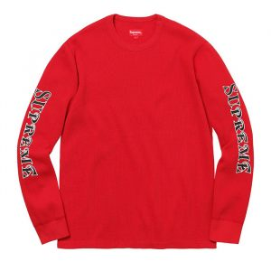 supreme waffle thermal red