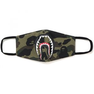 Bape Shark Mask V2 Green Camo