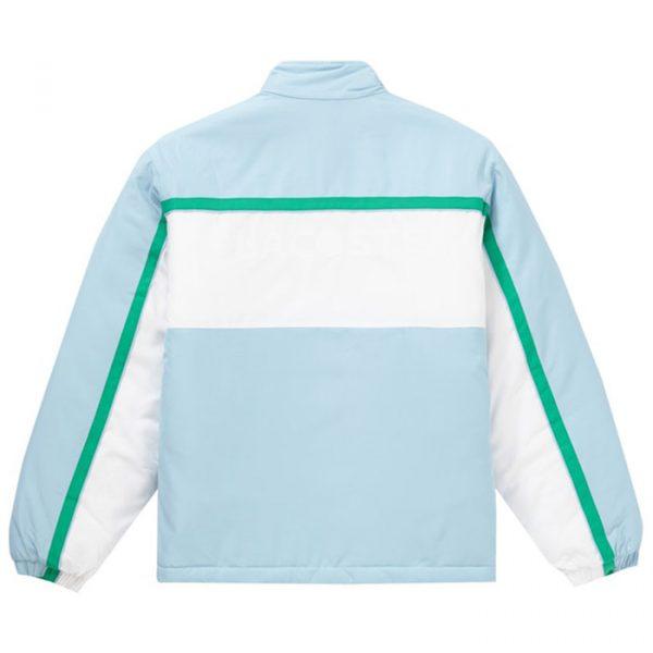 Supreme x Lacoste Puffy Half Zip Pullover Light Blue Back