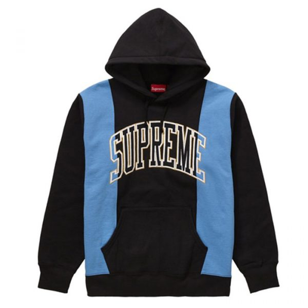 Supreme Paneled Arc Hooded Sweatshirt Black