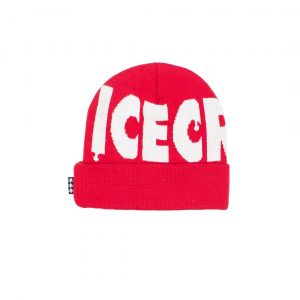 Ice Cream Wheelie Knit Beanie Tomato Red