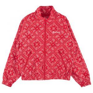 supreme bandana track jacket red
