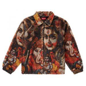 Supreme Ganesh Faux Fur Jacket Black