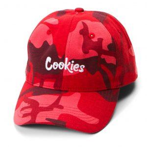 Cookies Battalion Multi Camo Dad Hat Red Camo
