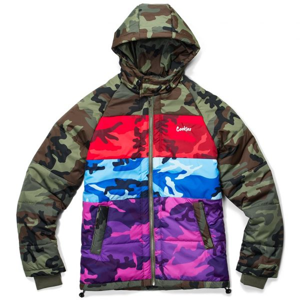Cookies Battalion Multi Camo Puff Jacket