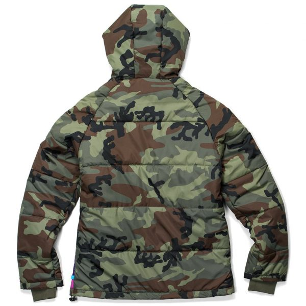 Cookies Battalion Multi Camo Puff Jacket Back