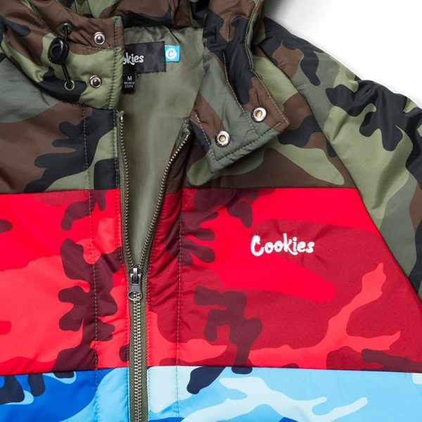 Cookies Battalion Multi Camo Puff Jacket Close Up