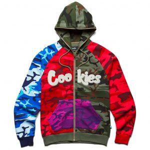 Cookies Battalion Multi Camo Fleece Zip Hoodie