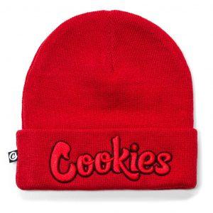 Cookies Daytona Knit Beanie Stitch Logo Red