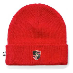 Cookies Daytona Knit Beanie Logo Patch Red