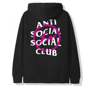 Anti Social Social Club X Fragment Pink Bolt Hoodie