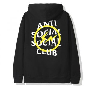 Anti Social Social Club X Fragment Yellow Bolt Hoodie