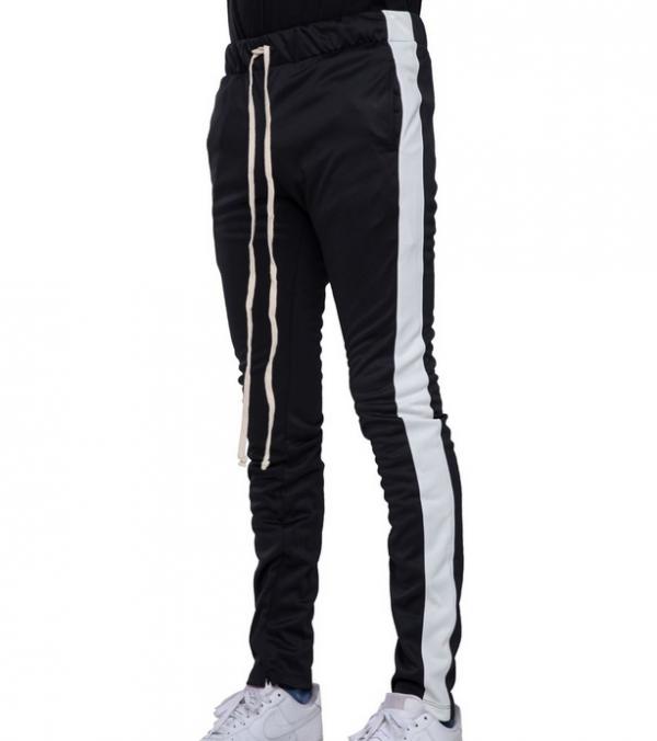 EPTM Track Pants Black White side view