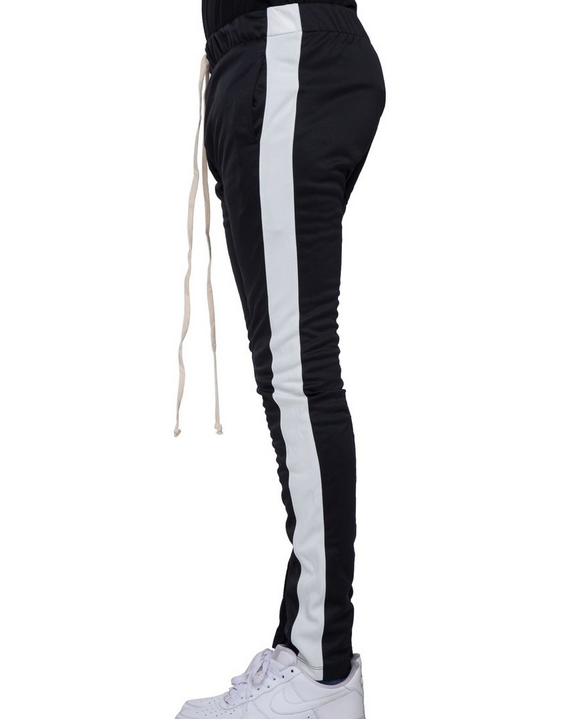 EPTM Track Pants Black White SIde
