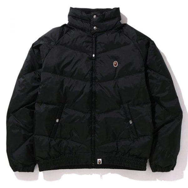 bape down jacket 2020 black
