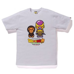 bape dragon ball super golden freiza tee white front