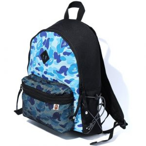 Bape Backpack Bungee Cord Blue Camo