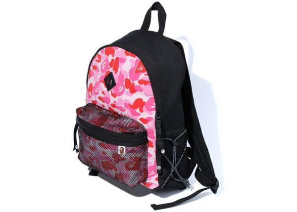 Bape Backpack Bungee Cord Pink Camo