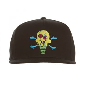 Ice Cream Green Cone Hat Black