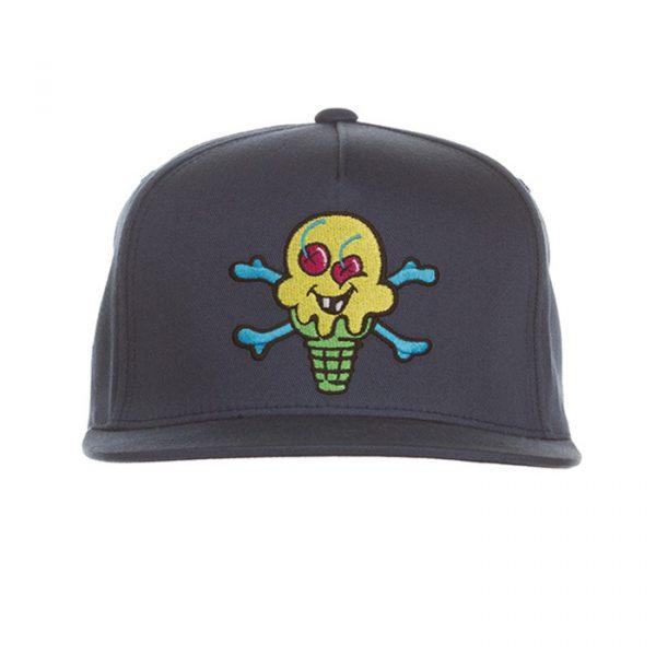 Ice Cream Green Cone Hat Midnight Blue