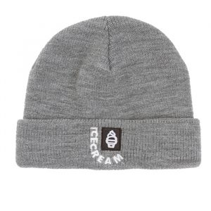 Ice Cream Header Knit Beanie Grey